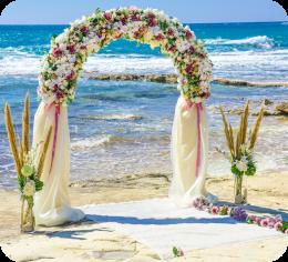Установка свадебной арки