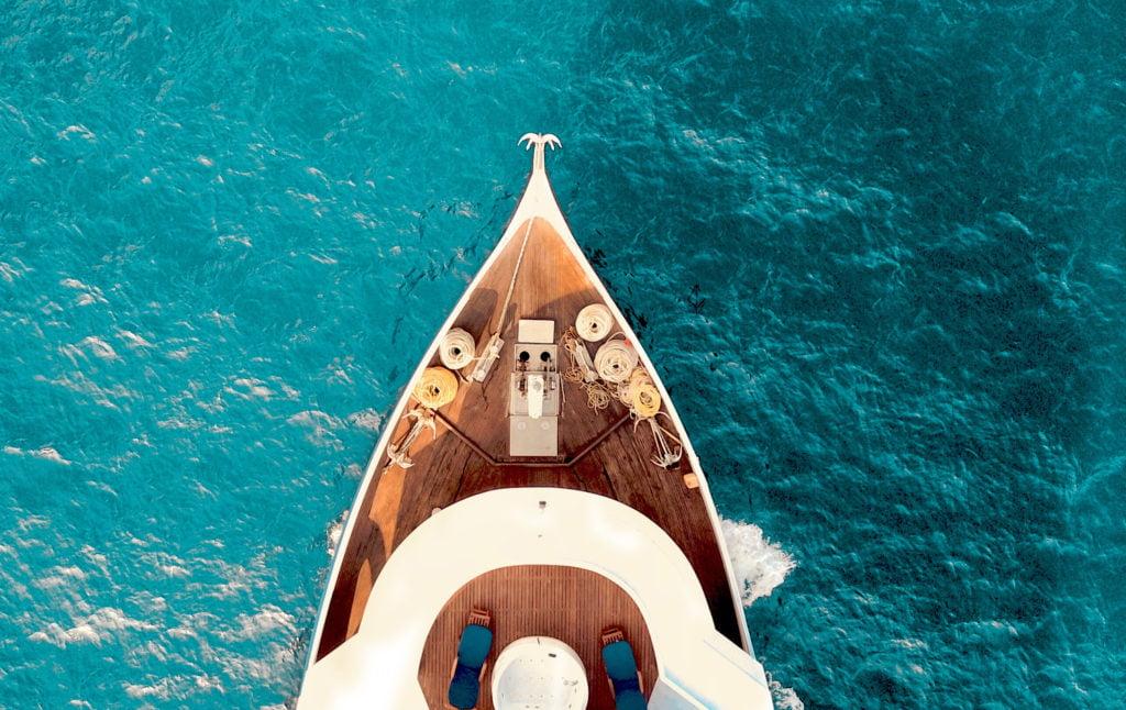 Палуба яхты