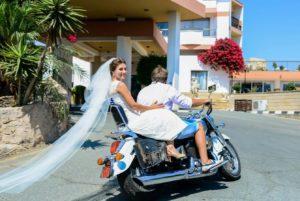 Свадебный мотоцикл